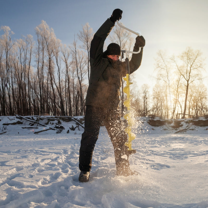 Iceberg Siberia Power Hand Ice Auger for Ice Fishing