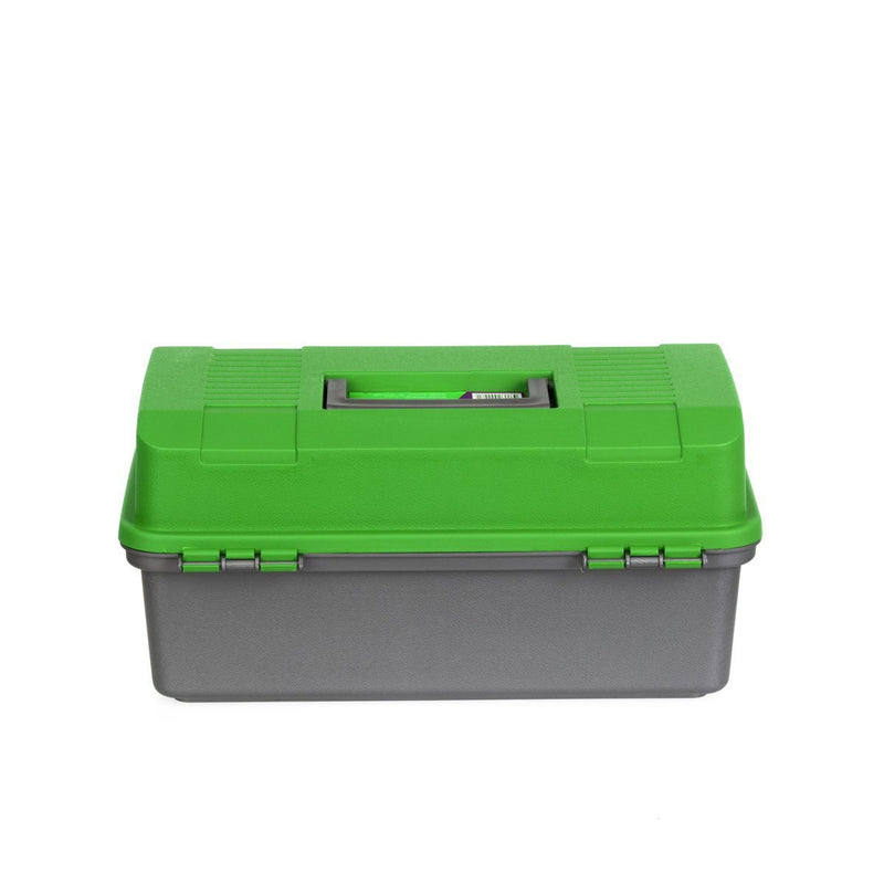 Small Fishing Two Trays Tackle Box, Plastic Freshwater Saltwater Tackle Tray