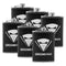 Gift Liquor Hip Flask 9 oz Groomsman Stainless Steel, Set of 6