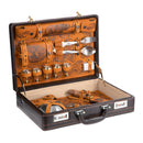 #2 Gift Set for Anglers, Travelers, Campers and Outdoor Lovers, Genuine Leather Case