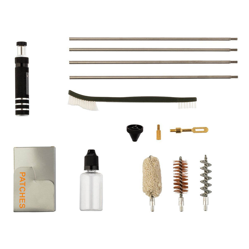 The kit includes 3 models of brushes,  double-sided brush, 4 pcs extension poles, oil for conservation, safety cone, patch, adapter for cleaning.