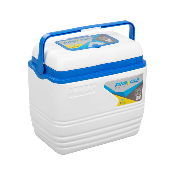 Voyager Portable White Cooler, Camping Ice Chest, 31 qt