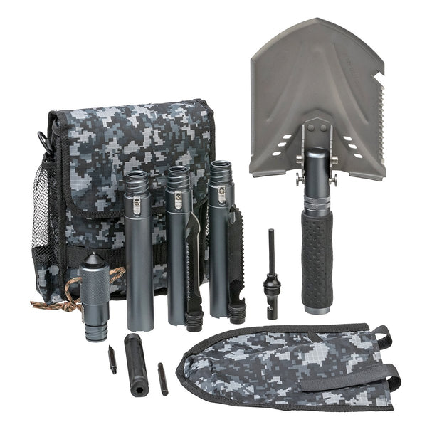 Multifunctional 35-inch Folding Survival Shovel for Camping