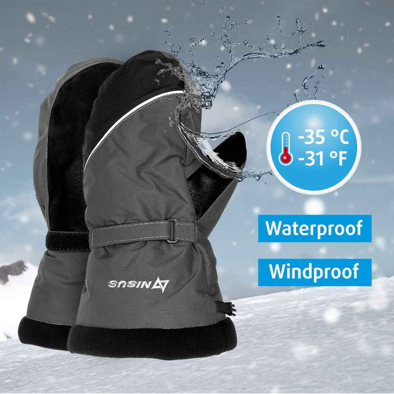 Nord Winter Waterproof Insulated Mittens for Cold Weather, Ice Fishing