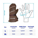 Kevlar Winter Breathable Insulated Mittens for Cold Weather, Winter, Ice Fishing