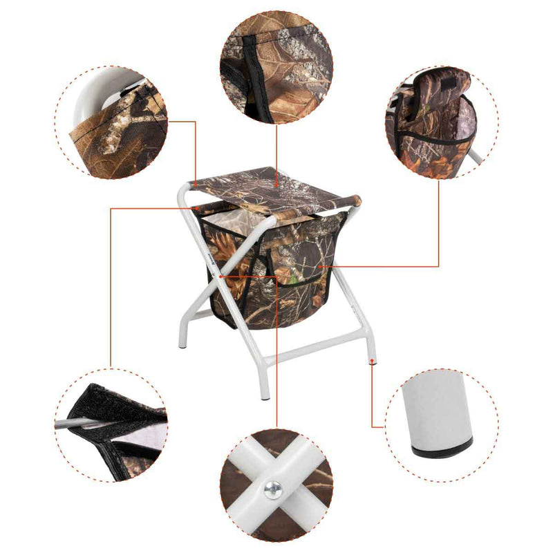 Folding Camping Outdoor Fishing Stool with a Storage