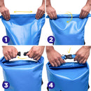 90 L Waterproof Large Fishing Boating Dry Bag, Blue/ Yellow/ Khaki
