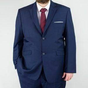 Big & Tall Tweed Suit Regular Fit Cavani Jefferson Navy Men's 2 Piece Suit - Suit & Tailoring