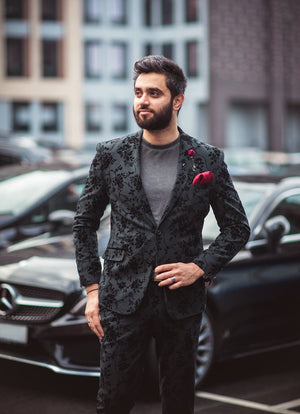 Cavani Georgi Floral Three Piece Tweed Suit - Suit & Tailoring