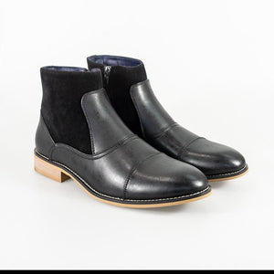 Cavani Halifax Black Mens Leather Boots - UK7 | EU41 - Boots