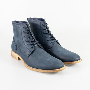 Cavani Huricane Navy Mens Leather Boots - UK7 | EU41 - Boots