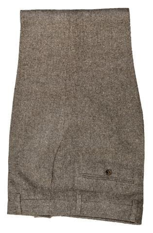 of Cavani Martez Brown Tweed Trousers - 28R - Suit & Tailoring