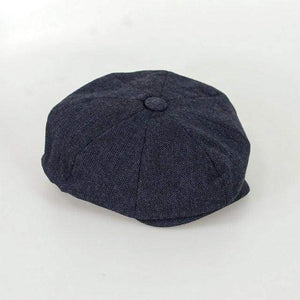 Cavani Martez Navy Baker Boy Flat Cap - Accessories