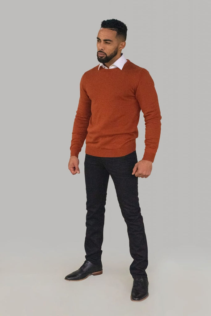 Cavani Men's Rustic Crewneck Knit - S - Shirts