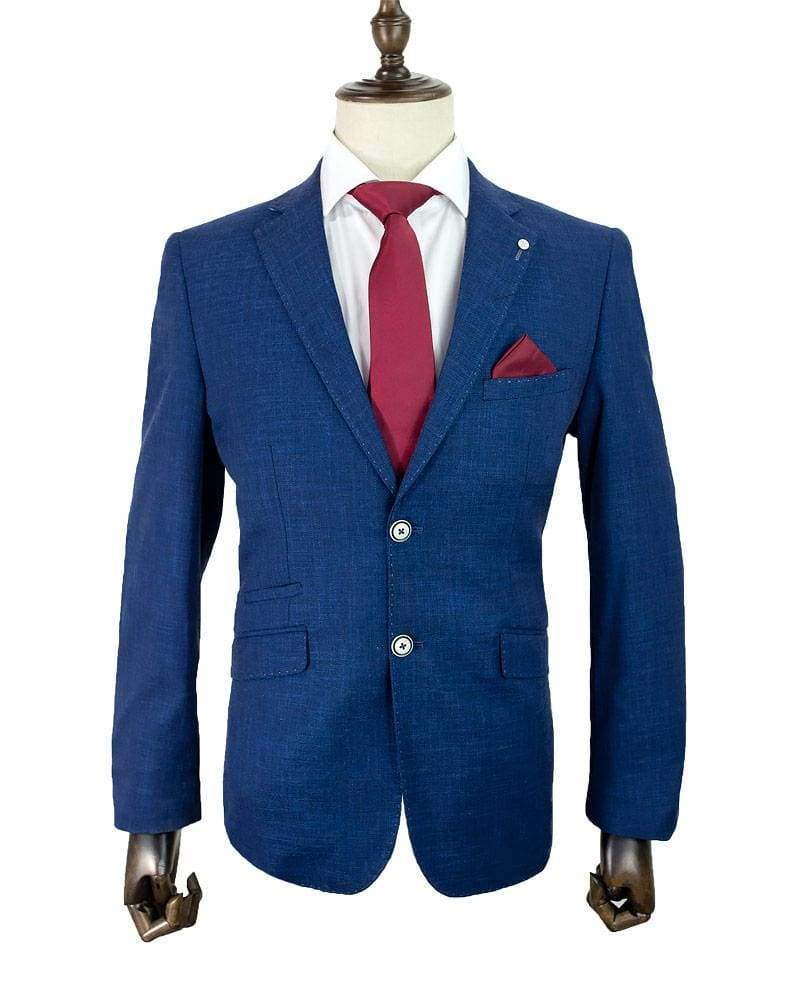 Cavani Miami Blue Men's 2 Piece Suit - Suit & Tailoring
