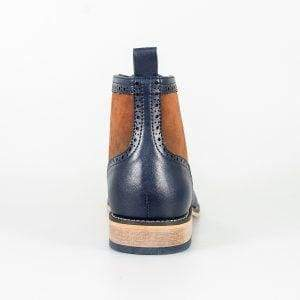 Cavani Modena Navy/Cognac Mens Leather Boots - Boots