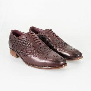 Cavani Orion Wine Mens Leather Shoes - UK7 | EU41 - Shoes