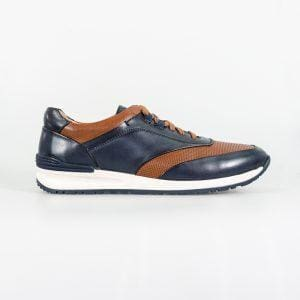 Cavani Portland Tan/Navy Trainers - Shoes