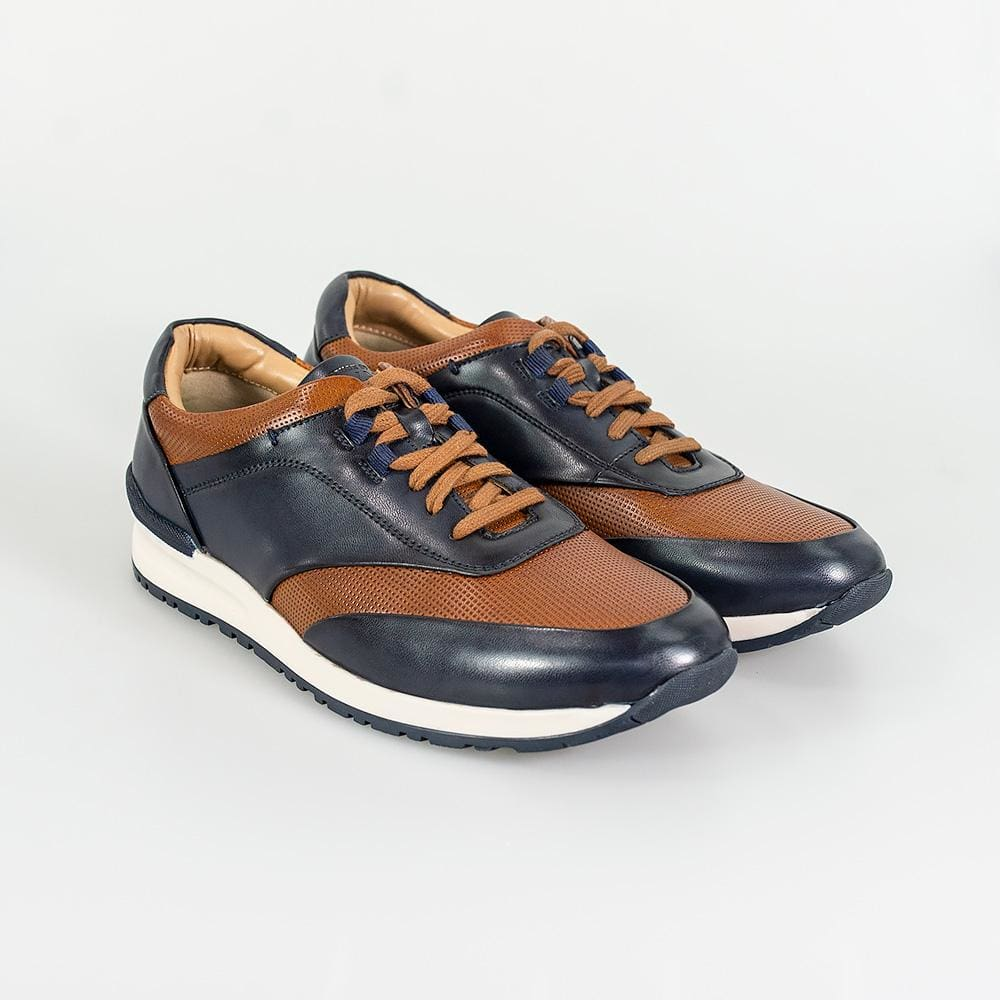 Cavani Portland Tan/Navy Trainers - UK7 | EU41 - Shoes