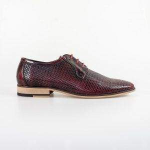 Cavani Rex Burgundy Formal Shoe - Shoes