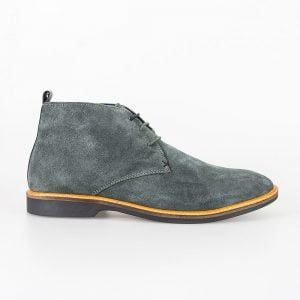 Cavani Sahara Grey Mens Leather Boots - Boots