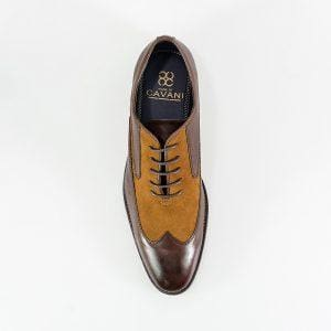 Cavani Tate Brown/Tan Mens Shoe - Shoes