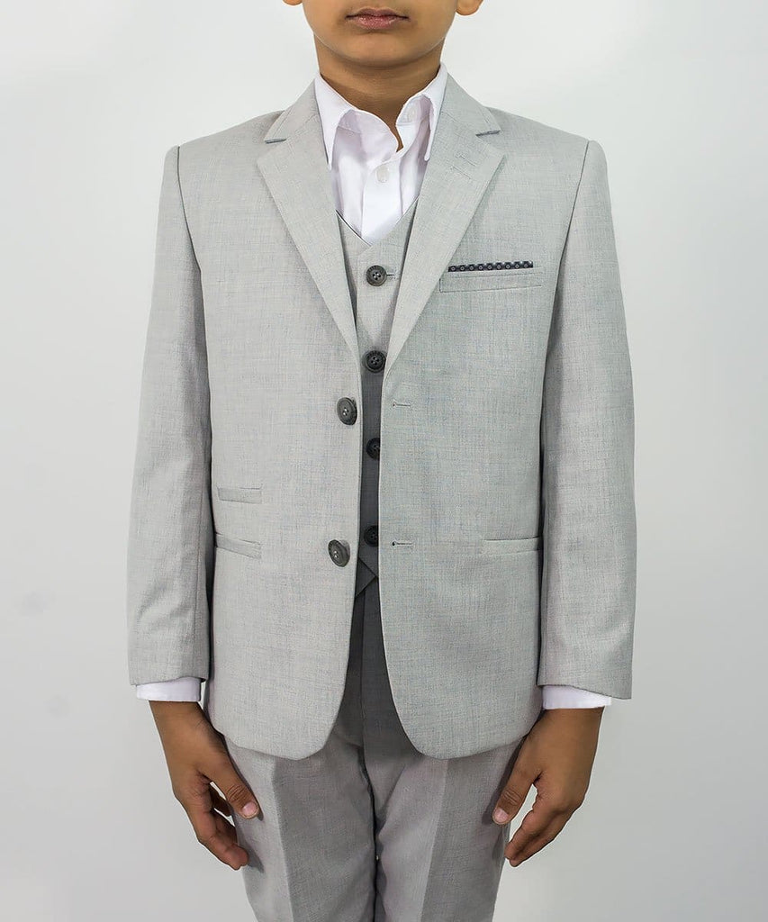 Cavani Veneto Boys Three Piece Light Grey Slim Fit Suit - 1 YEAR - Suit & Tailoring