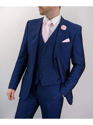 Ford 3 Piece Slim Fit Blue Suit - 36S / 30S - Suit & Tailoring