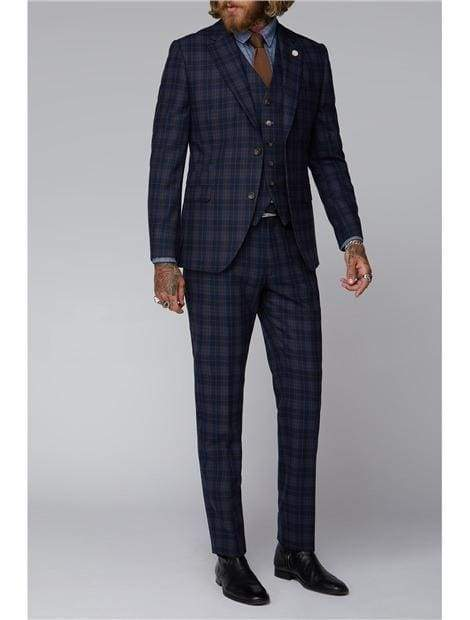Gibson Blue And Brown Check Jacket