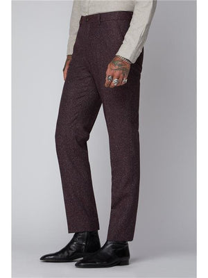 Gibson Berry Speckle Trouser - 28S - Suit & Tailoring
