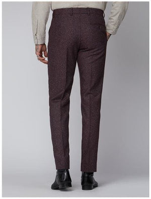Gibson Berry Speckle Trouser - Suit & Tailoring