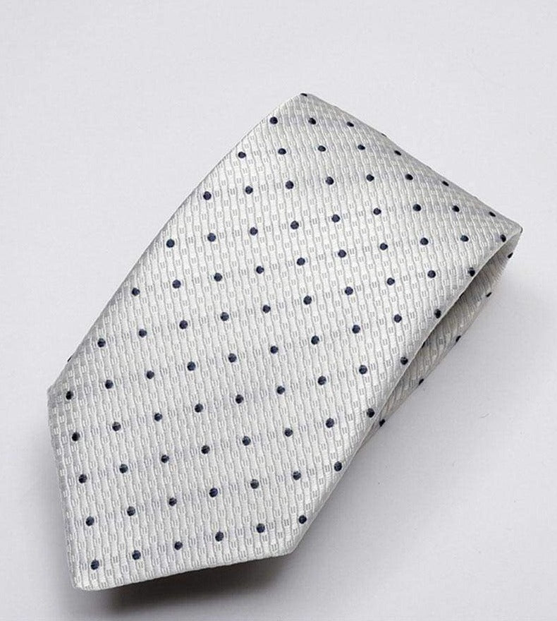 Heirloom Durant Mens Charcoal Dotted Tie - Accessories
