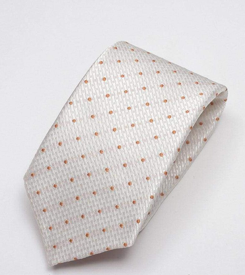 Heirloom Durant Mens Orange Dotted Tie - Accessories