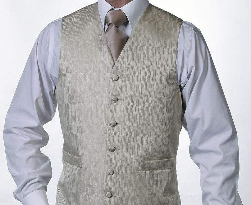 Heirloom Genova Mens Coffee Luxury 100% Wool Tweed Waistcoat - 34R - WAISTCOATS