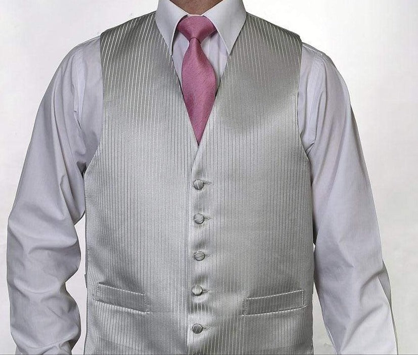 Heirloom Remi Martin Mens Silver Luxury 100% Wool Tweed Waistcoat - 34R - WAISTCOATS
