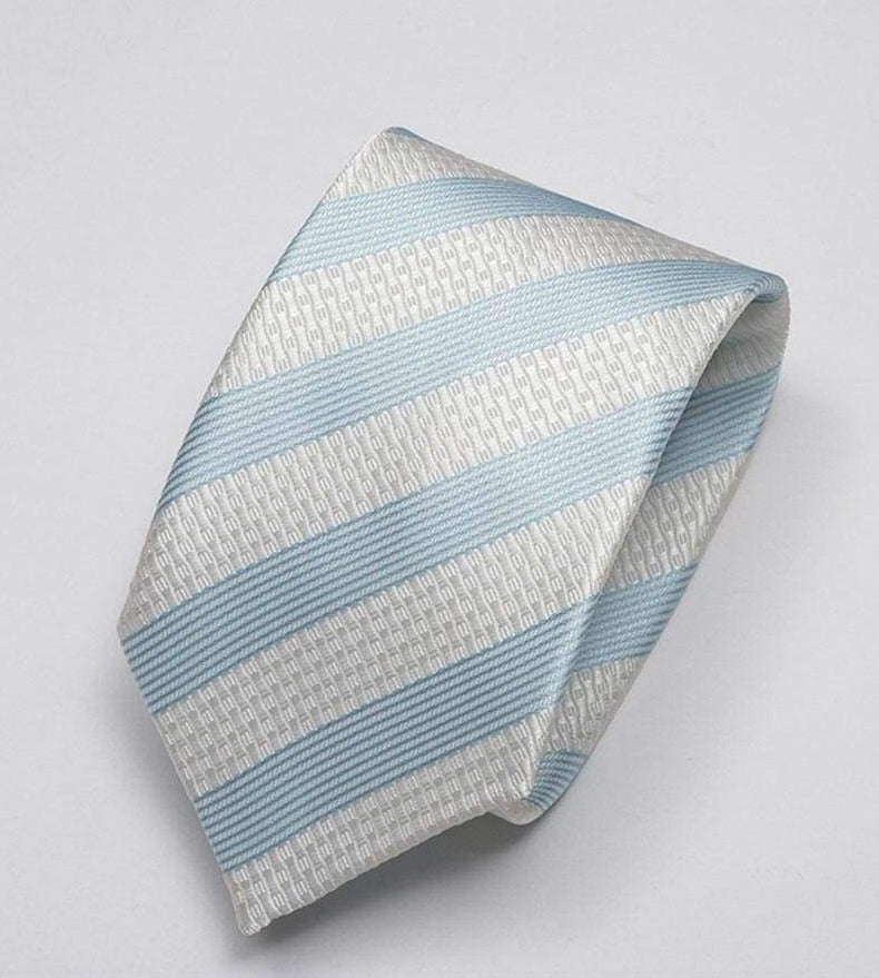 Heirloom salvadore Mens Aqua Stripped Tie - Accessories