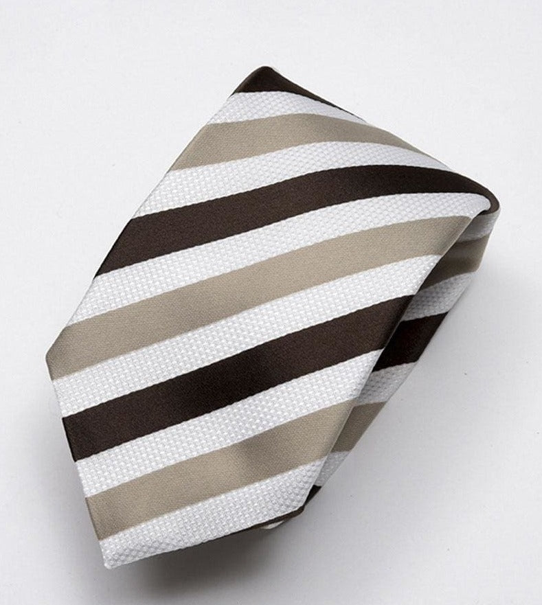 Heirloom sandown Mens Chocolate Stripped Tie - Accessories