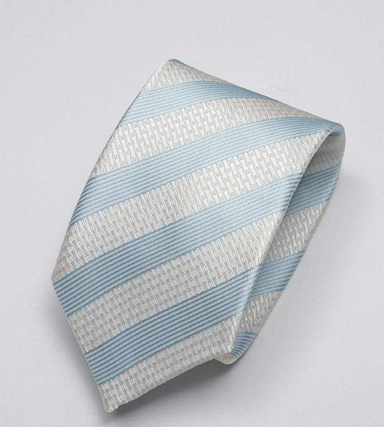 Heirloom Sebastian Mens Aqua Stripped Tie - Accessories