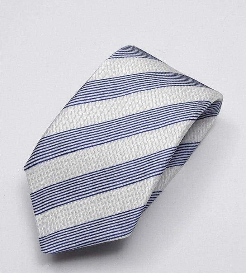 Heirloom Sebastian Mens Blue Stripped Tie - Accessories