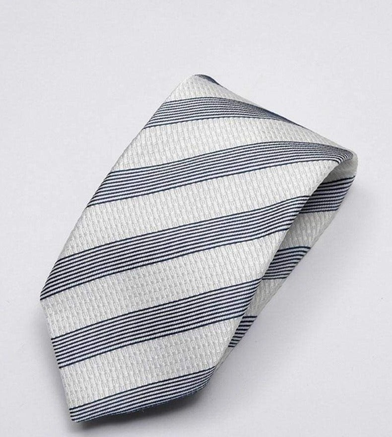 Heirloom Sebastian Mens Charcoal Stripped Tie - Accessories