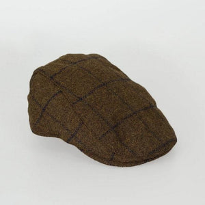 Kemson Tobacco Check Flat Cap - S/M - Accessories