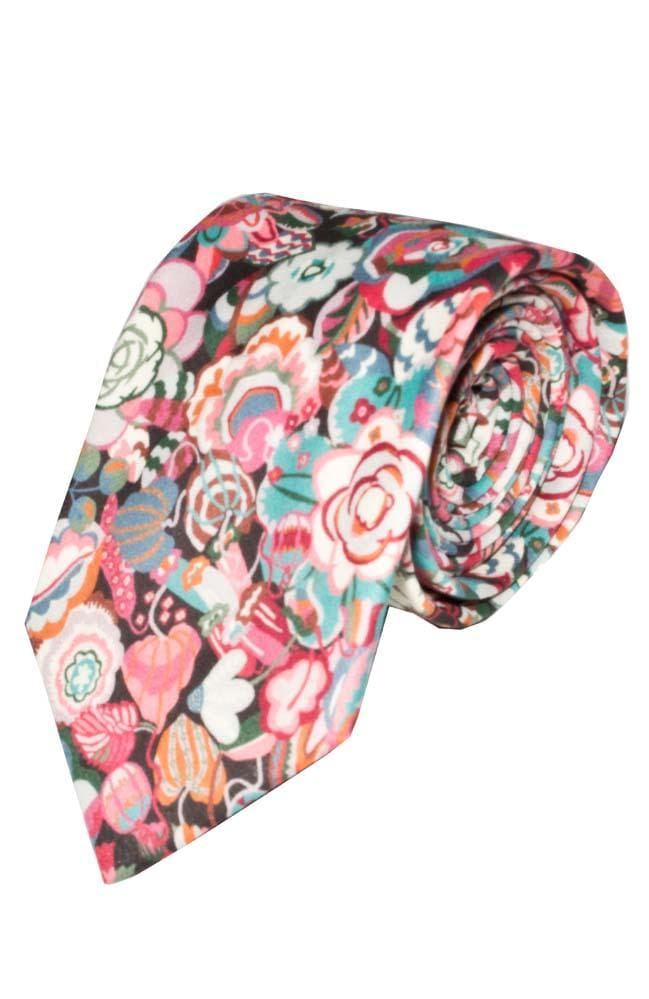 Liberty Fabric Gatsby Garden Pink Cotton Tie - Accessories