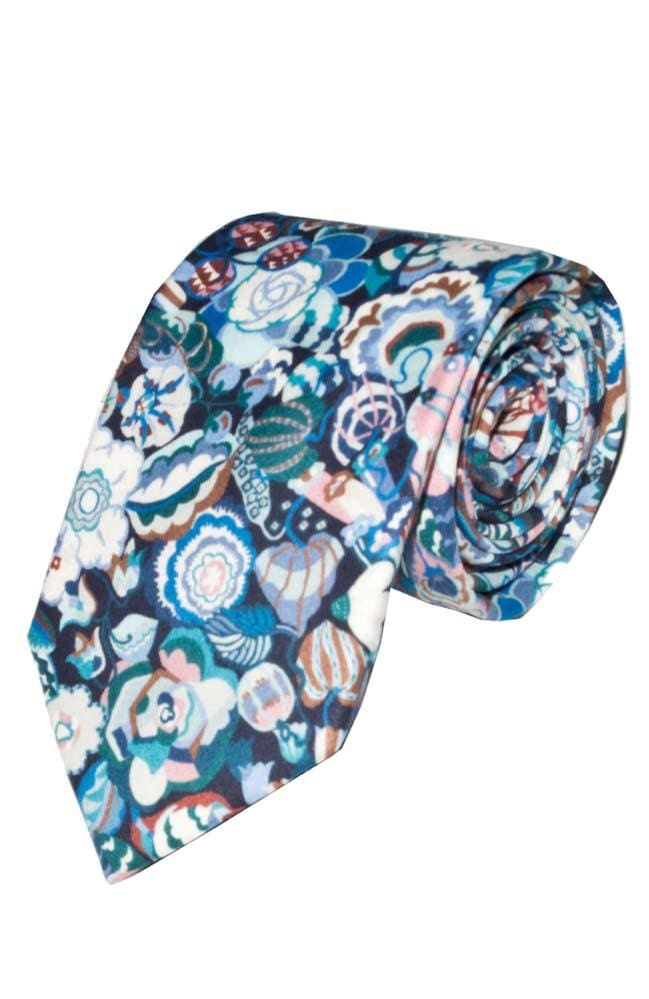 Liberty Fabric Gatsby Garden Purple Cotton Tie - Accessories