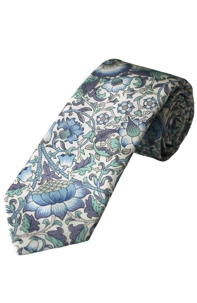 Liberty Fabric Lodden Boys Blue Cotton Tie - Accessories