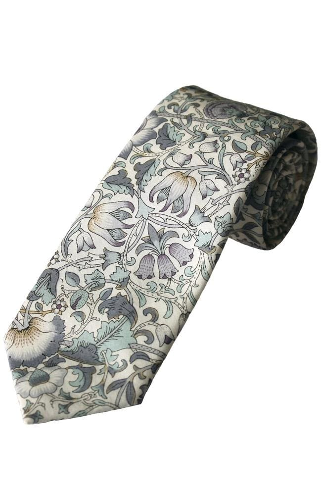 Liberty Fabric Lodden Boys Sage Cotton Tie - Accessories