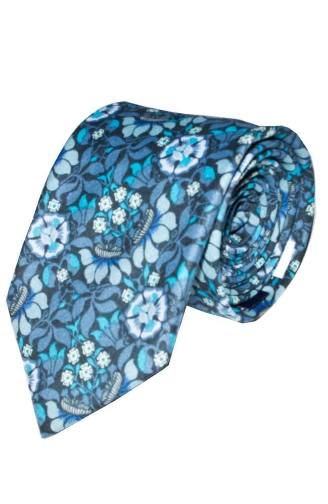 Liberty Fabric Persephone Blue Cotton Tie - Accessories