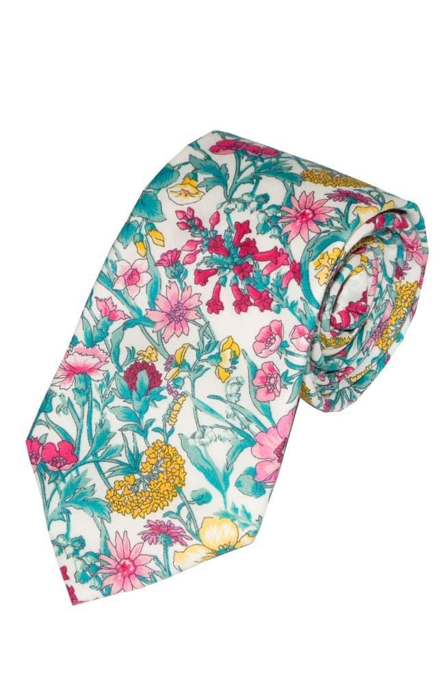 Liberty Fabric Rachel Pink Cotton Tie - Accessories
