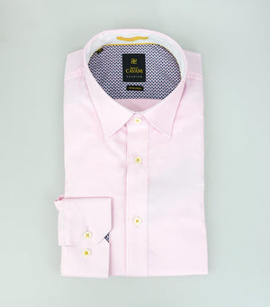 Mens Pink Oxford Stretch Shirt by Cavani - Shirts