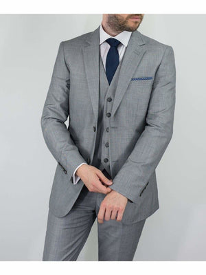 Reegan 3 Piece Slim Fit Light Grey Suit - 36S / 30S - Suit & Tailoring