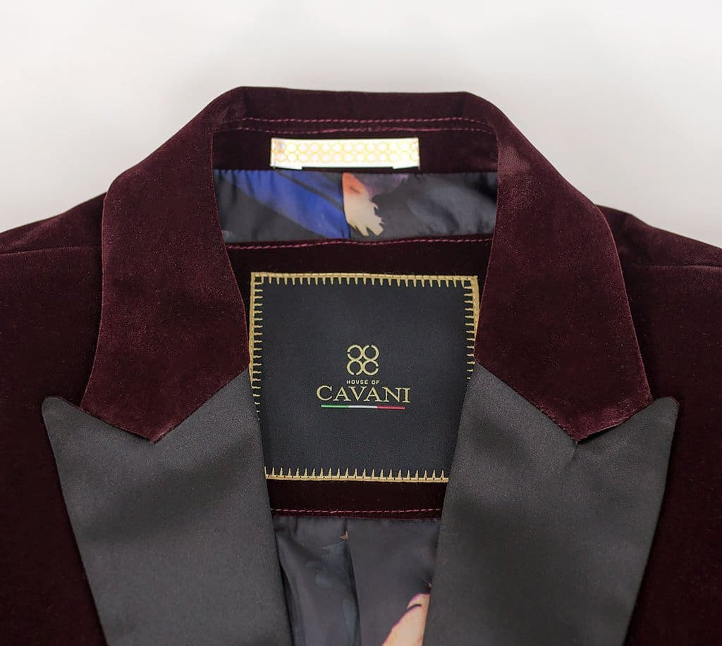 Rosa Wine Slim Fit Velvet Style Jacket - Suit & Tailoring